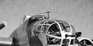 Nose of WWII aircraft Royalty Free Stock Photo
