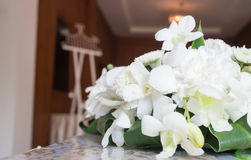 Nosegay. A bouquet of flowers on a table at a wedding royalty free stock photo
