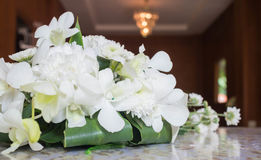 Nosegay. A bouquet of flowers on a table at a wedding royalty free stock image