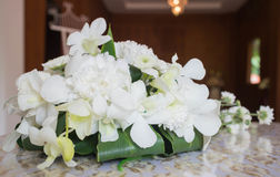 Nosegay. A bouquet of flowers on a table at a wedding stock photography