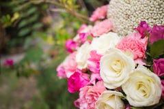 Nosegay. Wedding bouquet was placed in the garden stock photos