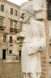 Noseless statue, Venice, Italy Stock Photography