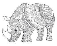 noshörning vektor illustrationer