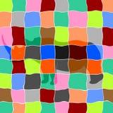 Noshörning i mosaik Arkivbild