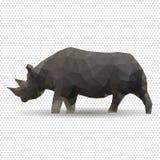Noshörning som isoleras på en vit bakgrund. Arkivbild