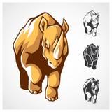 Noshörningsymbol Vektor Illustrationer