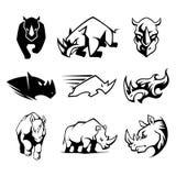 Noshörningsymbol Royaltyfri Illustrationer