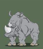 Noshörningvektor Vektor Illustrationer