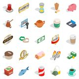 Noshery icons set, isometric style Stock Photo