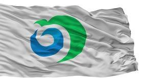 Noshiro miasta flaga, Japonia, Akita prefektura, Odizolowywająca Na Białym tle ilustracji