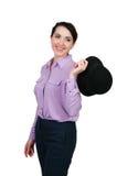 nosi kapelusz kobiety Zdjęcia Royalty Free