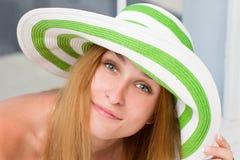 nosi kapelusz kobiety Fotografia Royalty Free