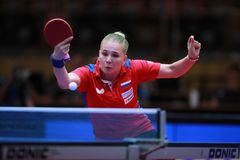 NOSKOVA Yana from Russia backhand Stock Images