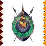 nosorożec afrykański Afryka zwierzęca wektorowa ilustracja Fotografia Stock