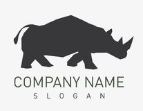 Nosorożec logo na białym tle Obrazy Stock