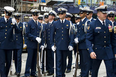 Nosotros desfile del guardacostas Foto de archivo