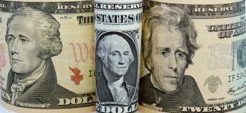 Nosotros-Dinero en circulación foto de archivo libre de regalías