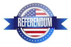 nosotros gráfico del diseño del ejemplo del sello del referéndum Foto de archivo libre de regalías