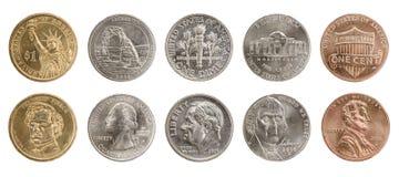 Nosotros monedas foto de archivo libre de regalías