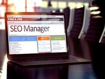 Nosotros SEO Manager de alquiler 3d Fotos de archivo