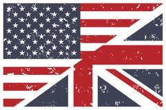 Nosotros y Reino Unido señalamos la unión por medio de una bandera. Inglés. libre illustration