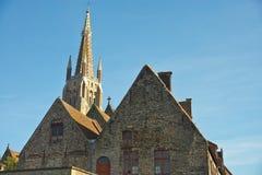Nossa igreja da senhora, Bruges imagem de stock