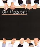 Nossa missão Imagem de Stock