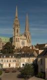 Nossa senhora da catedral de Chartres, França Foto de Stock Royalty Free