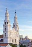 Nossa Senhora das Dores catholic church in Porto Alegre. Nossa Senhora das Dores catholic church with blue sky stock photo