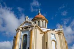 Nossa Senhora de Caravaggio Fristad kyrka - Farroupilha, Rio Grande do Sul, Brasilien arkivfoto