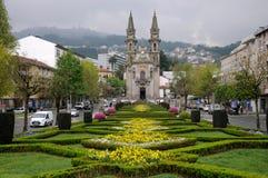 Guimareas church in grassed area in portugal