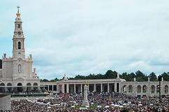 Nossa senhora de fatima celebration. Nossa Senhora de Fatima Sanctuary during a celebration Royalty Free Stock Image