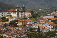 Nossa Senhora do Carmo. Baroque Church of Nossa Senhora do Carmo in Ouro Preto. Located in the state of Minas Gerais, Brazil Stock Photography