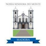 Nossa Senhora do Monte Madeira Flat cartoon vector Stock Photo