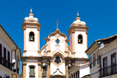 Nossa Senhora do Pilar Church in Ouro Preto, Brazil.  Stock Photo