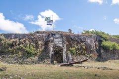 Nossa Senhora dos Remedios forteca - Fernando De Noronha, Pernambuco, Brazylia obrazy stock
