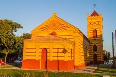 Nossa Senhora hace la iglesia de Carmen en Boa Vista fotografía de archivo