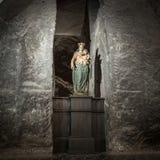Nossa senhora Victorious na capela transversal santamente no sal de Wieliczka Fotografia de Stock