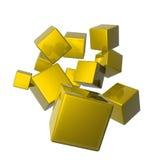 Nosso cubo 3D a trabalhar Fotografia de Stock Royalty Free