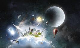 Nosso mundo original Meios mistos imagem de stock royalty free