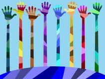 Nosso mundo tem muitas cores e amizade Foto de Stock Royalty Free