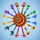 Nosso mundo tem muitas cores e amizade Fotos de Stock