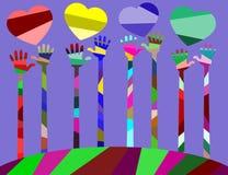 nosso mundo tem muitos cores, alegria, amizade e amor Fotos de Stock Royalty Free