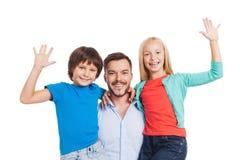 Nosso pai é o melhor! Imagem de Stock Royalty Free