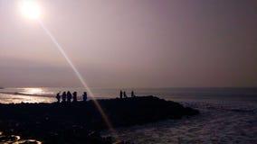 Nosso por do sol da vida imagens de stock