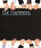 Nossos parceiros Imagem de Stock