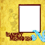 Nostalgia Scrapbook Frame background. Rectangular scrapbook's frame in the background of yellow Stock Photo
