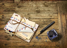 Nostalgic airmail letters Royalty Free Stock Photo