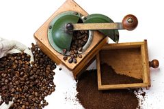 Nostalgic coffee mill Royalty Free Stock Photo