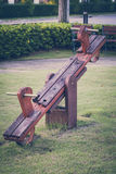 Nostalgic Concept, Vintage Childhood Seesaw Royalty Free Stock Photos